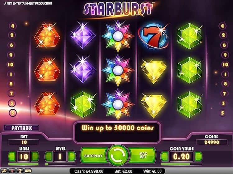 screenshot of Starburst Slot