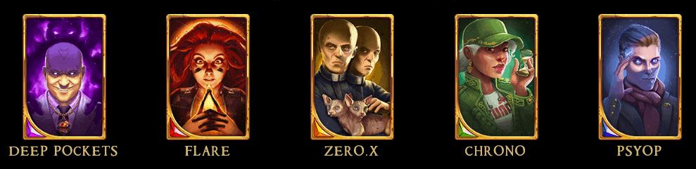 screenshot of heroes at Arcane Reel Chaos