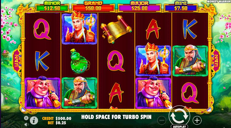 screenshot of Grant Jackpot at Monkey Warrior