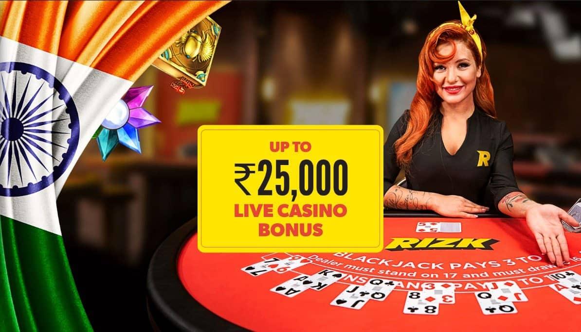 Rizk live casino bonus.