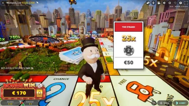 image of live monopoly casnio