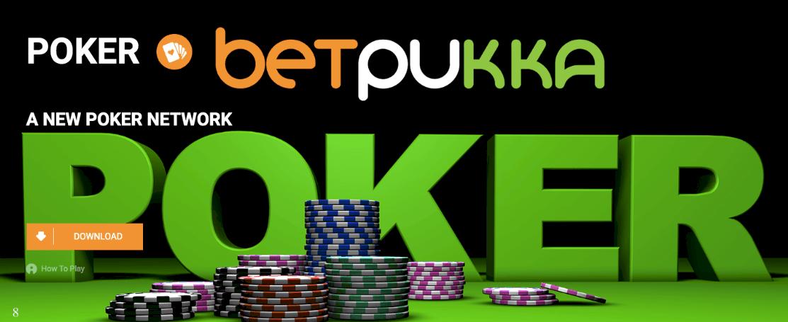 screenshot of poker game at betpukka Casino
