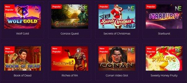 screenshot of casino games at Betzest Casino