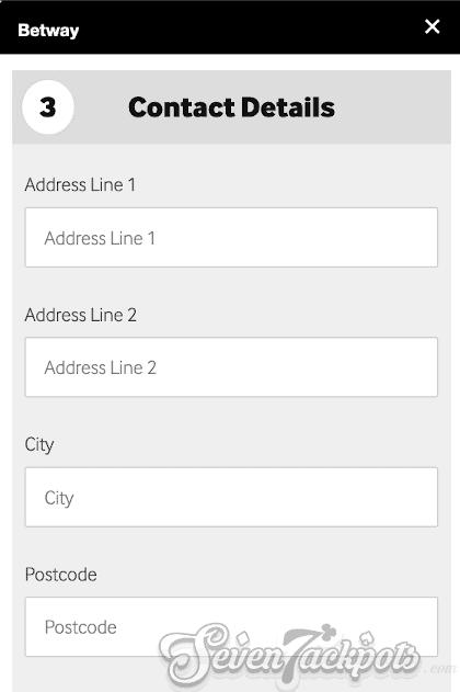 Screenshot of registration process step 4, residential address