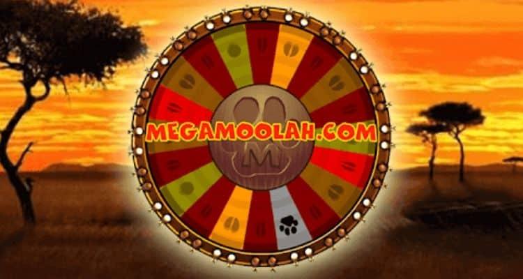 screenshot of Mega Moolah Jackpot Wheel