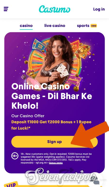 screenshot of account registration step 1