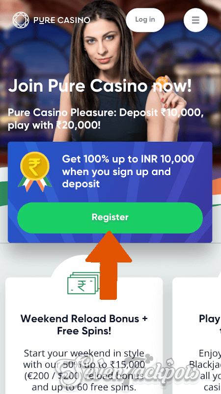 Screenshot of registration step 1