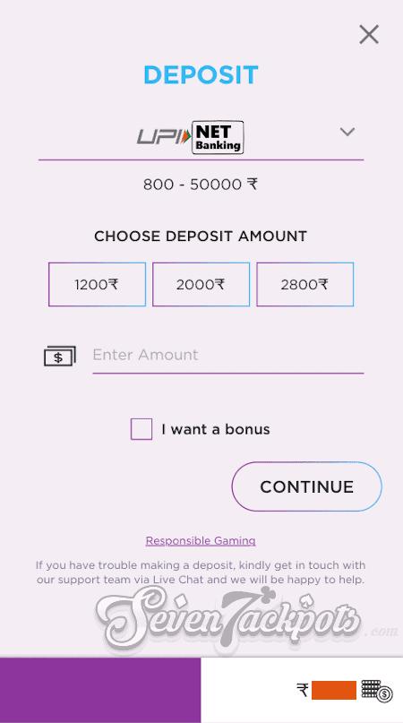 Step 2 Deposit