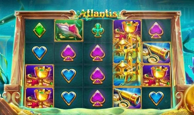 Screenshot of Gamings Atlantis slot by Red Tiger Gaming