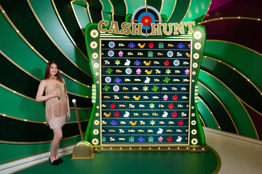 photo of the Cash Hunt bonus game in Crazy Time