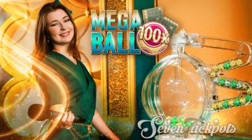 image of Mega Ball game logo and presener